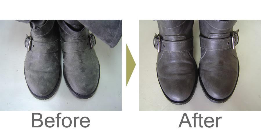 ブーツのカビ・スレの除去